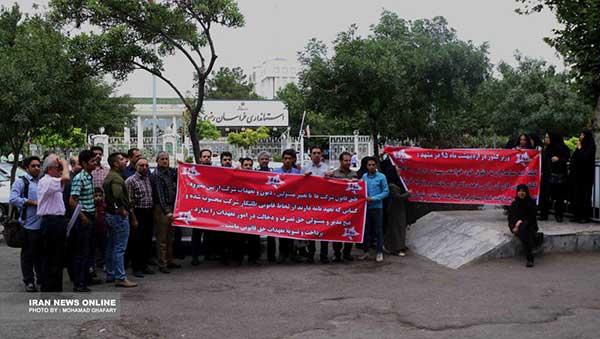 تجمع سهامداران پدیده شاندیز در مشهد و تهران